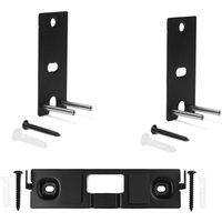 Lifestyle Omnijewel 2 x Wall bracket pair and Centre channel bracket in black