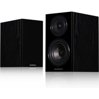 Wharfedale Diamond 12.0 Bookshelf speaker Compact 2 way with rear port (Pair) Black Oak