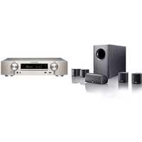 Marantz NR1609 Silver Gold Slim 7 2 Channel AV Receiver HEOS with Canton Movie 75 5 1 Surround Sound