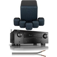 Denon AVCX3700H 9.2ch 8K AV Amplifier With Monitor Audio Mass 5.1 Gen 2 Surround Sound Speaker System in Black
