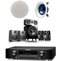 Marantz NR1609T1B Atmos 5 1 2 Package Wharfedale DX 2 5 1 Speaker with Yamaha Pair NSIC600 Ceiling S