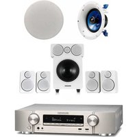 Marantz NR1609T1SB  Atmos 5 1 2 Package Wharfedale DX 2 5 1 Speaker Package with Yamaha Pair NSIC600