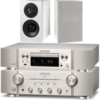 Marantz PM8006 HiFi Amplifer with ND8006 Network CD Player in Silver and Audio Technology Demand Ser