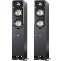 Polk S50 Small Tower American HiFi Home Theater Tower Speakers Pair   Display Open Box