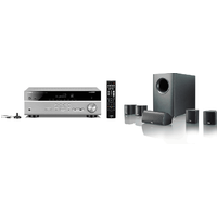 Yamaha MusicCast RXV485 5 1 Channel AV Receiver 3 Year Warranty in Titanium with Canton Movie 75 5 1