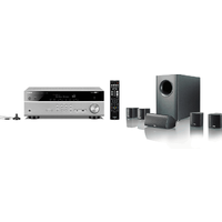 Yamaha MusicCast RXV585 7 2 Channel AV Receiver 3 Year Warranty in Titanium with Canton Movie 75 5 1