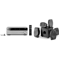 Yamaha MusicCast RXV585 7 2 Channel AV Receiver 3 Year Warranty in Titanium with Focal Sib Evo 5 1 2