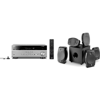 Yamaha MusicCast RXV685 7 2 Channel AV Receiver 3 Year Warranty in Titanium with Focal Sib Evo 5 1 2