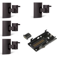Bose 4 x UB-20 Series II Wall or Ceiling Bracket and SlideConnect WB-50 Wall Bracket in black
