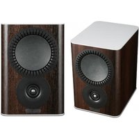 Mission QX 1 Bookshelf Speaker Pair in Walnut