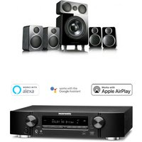 Marantz NR1509 Black 5 2 Channel AV Receiver with Wharfedale DX 2 5 1 Speaker Package Black