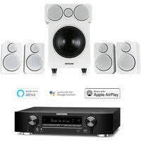Marantz NR1509 Black 5 2 Channel AV Receiver with Wharfedale DX 2 5 1 Speaker Package White