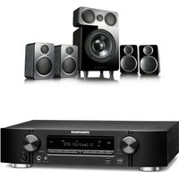 Marantz NR1609 Black AV Receiver With Heos Plus Wharfedale DX 2 5 1 Speaker Package Black