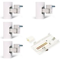 Bose 4 x UB-20 Series II Wall or Ceiling Bracket and SlideConnect WB-50 Wall Bracket in white