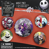 'The Nightmare Before Christmas - Characters - Badge Pack - Multicolour