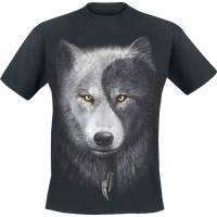 Spiral Wolf Chi T-Shirt schwarz (T118M101-3)