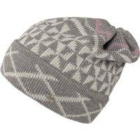 Damen Mütze mit Muster 55/57 Middle Grey / Light Grey