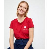 T-shirt 'amore mio' à broderies
