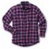 Baumwoll Flanellhemd, blau-rot