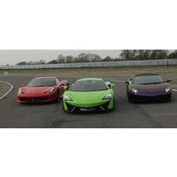 Junior Triple Platinum Supercar Driving Thrill With Hot Lap - Fathers Day Gifts