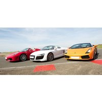 Junior Triple Supercar Driving Blast With Hot Lap - Fathers Day Gifts
