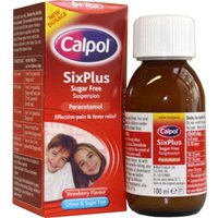 Calpol Six Plus Sugar/Colour Free Suspension 100ml 7320