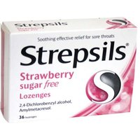 Strepsils Strawberry Sugar Free 36