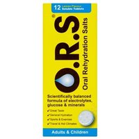Oral Rehydration Salts Lemon Flavour Soluble Tablets (12)