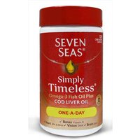 Seven Seas Simply Timeless Omega-3 Fish Oil Plus Cod Liver Oil 120 One a Day Capsules