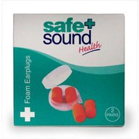 Safe and Sound Foam Earplugs 2 Pairs