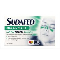 Sudafed Mucus Relief Day & Night Capsules 16
