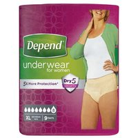 Depend for Women Incontinence Underwear Extra Large 9 Pants
