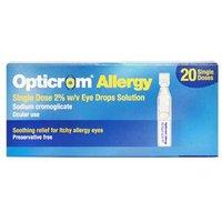 Opticrom Allergy Eye Drops 2% 20 Single Doses