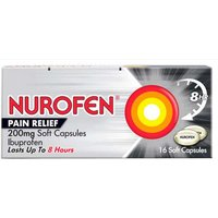 Nurofen Pain Relief 16 200mg Soft Capsules.