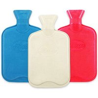 Hot Water Bottle Natural Rubber Plain - Red