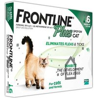 Frontline Plus Spot On For Cats and Ferrets 6 Pipettes