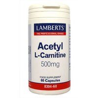 Lamberts Acetyl L-Carnitine 500mg - 60 Capsules