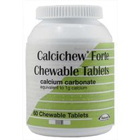 Calcichew Forte Calcium Carbonate Chewable Tablets 60