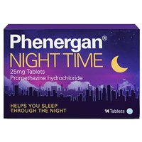 Phenergan Night Time 25mg Tablets 14