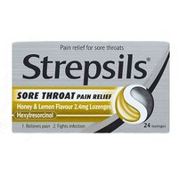 Strepsils Sore Throat Pain Relief Lozenges Honey And Lemon 24