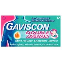 Gaviscon Double Action Mint Flavour Chewable Tablets 12