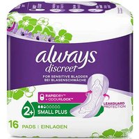 Always Discreet Incontinence Small Plus Pads 16