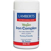 Lamberts Vegan Iron Complex 120 Tablets