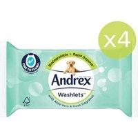 Andrex Aloe Vera Washlets x4 Pack