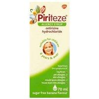 Piriteze Allergy Relief Syrup 70ml
