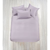 Luxury Plain Linen Clearance - Fitted Sheet Super King Biscuit