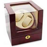 Lockable Gloss Red Dual Watch Winder - A1961