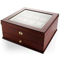 Lockable Fifteen Part Wooden Watch Box - A1997