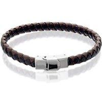 Inspirit Black/Brown Leather Bracelet - 8.5in - A3570