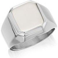 Fred Bennett Stainless Steel Signet Ring - A3787-S